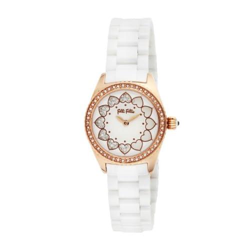 [フォリフォリ]FOLLI FOLLIE 腕時計 LOVE TIME ホワイト文字盤 ステンレス(PGPVD)ケース WF13B018BSW レディース 【並行輸入品】