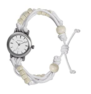 Kahuna Women's Quartz Watch with White Dial Analogue Display and White Plastic Or Pu Strap KLF-0001L