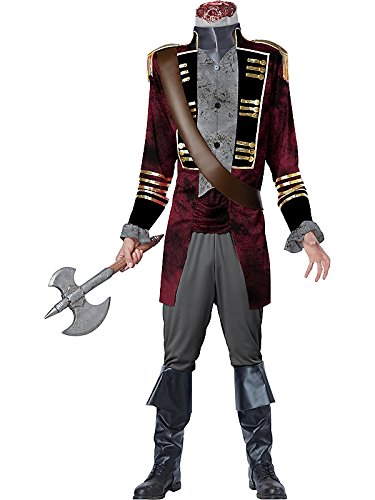 California Costumes mens Adult Deluxe Sleepy Hollow Headless Horseman Costume