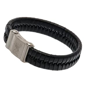 Liverpool F.C. Single Plait Leather Bracelet from TU Football Souvenirs