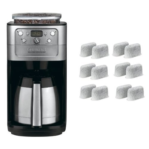 Cuisinart DGB-900BC Grind & Brew Thermal 12-Cup Automatic Coffeemaker and Everyday 12-Pack Replacement Charcoal Water Filters for Cuisinart Coffee Machines Bundle (Machine Grinder compare prices)