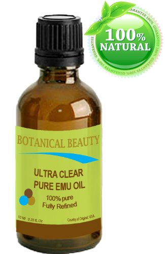 Ultra Clear Pure Emu Oil 100% Pure. 0.33Oz -10Ml. Fully Refined /Golden For Face, Body, Hair, Lips. One Of A Kind Oil For Natural Skin Care.