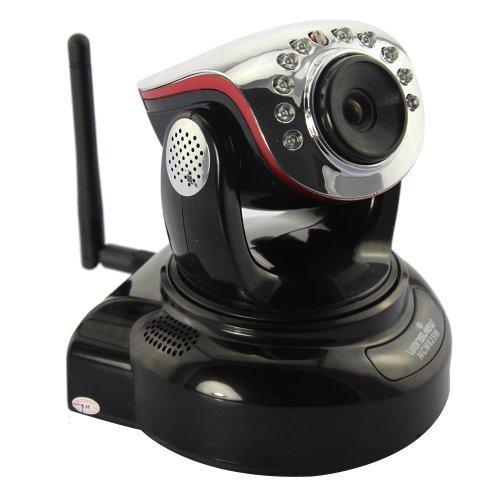 Wansview NCM625W H.264 Mega Pixel Wlan IP Kamera Überwachungskamera mit IR Cut, Zwei-Weg-Audio, SD-Karte schwarz