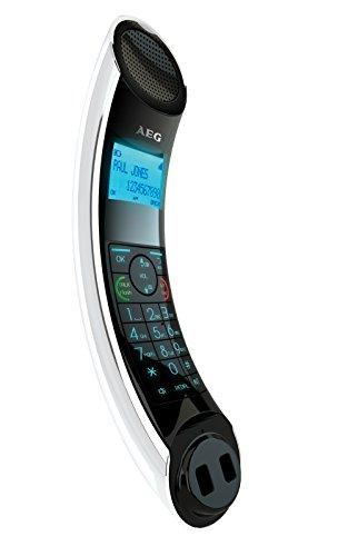 Aeg eclipse 10 telefono design dect cordless bianco - Telefoni cordless design ...