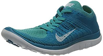 Nike Women's Free Flyknit 4.0 Sport Turq/White/Neo Turq/Volt Running Shoe 6 Women US