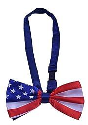 BODY STRENTH USA American Flag Bowtie for Party Wedding Men Bowtie USA Flag