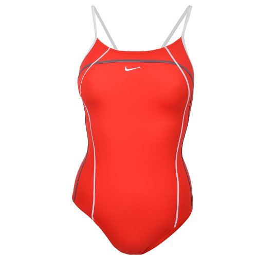Nike Womens One Piece Swimming Costume - EWC3506 - Red