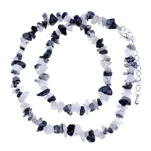 Pugster Ultra Chic Semi Precious Chip Stone Entire Collection Pendant Necklace