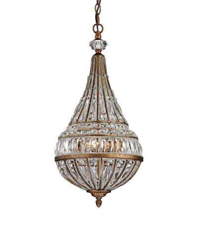 Artistic Lighting Empire Collection 3-Light Pendant, Mocha