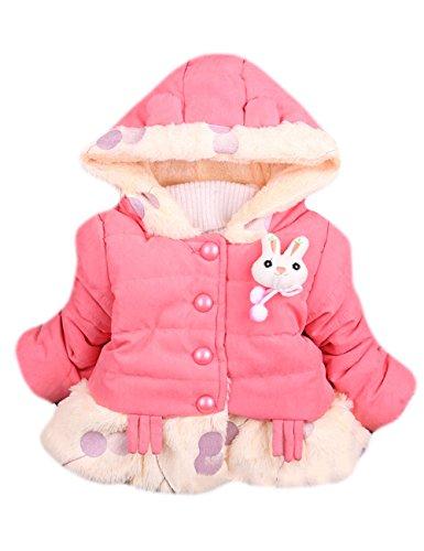 Tkria Invernale Bambina Maniche Lunghe Cappotto Giacca Inverno Caldo Giubbotto 0-3 Anni