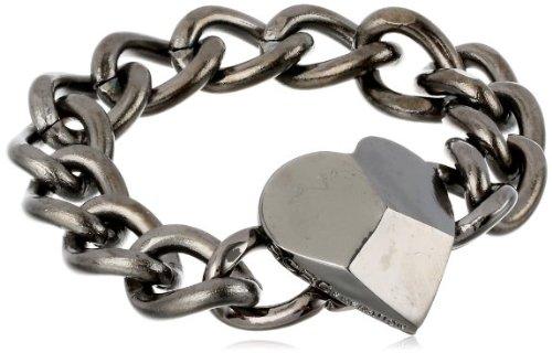 BCBGeneration I Heart You Hematite bracelet 20 cm ladies [parallel import goods]