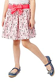 Pure Cotton Flamingo Print Skirt