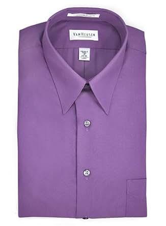 Van heusen purple dress shirt at amazon men s clothing store for Van heusen dress shirts