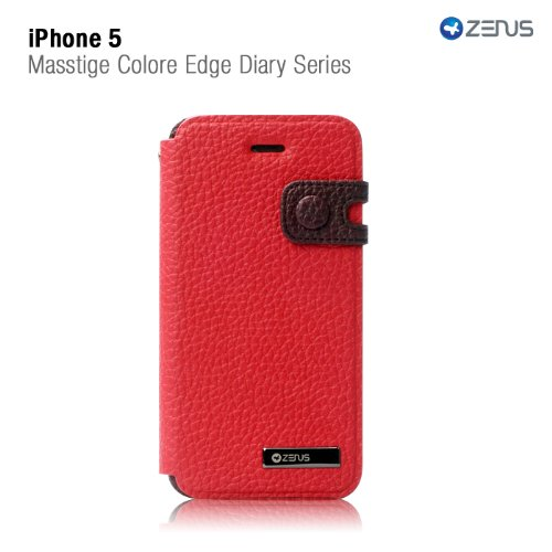 Special Sale Zenus ZCI5CEWR Color Edge Cover Case for Apple iPhone 5 (Red Wine)