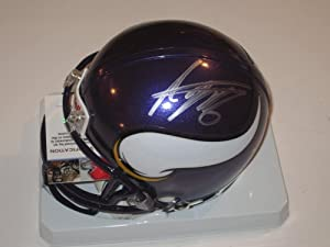 Adrian Peterson Minnesota Vikings Signed Autographed Mini Helmet with Certificate of...
