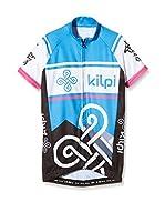 Kilpi Maillot Ciclismo (Azul / Negro / Rosa)