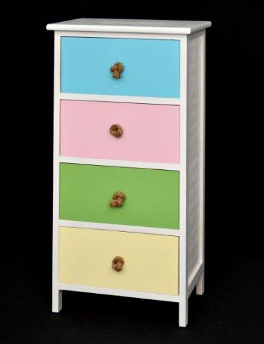 kommode schrank kinder regal in poppigen farben in wei. Black Bedroom Furniture Sets. Home Design Ideas
