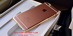 DevilCase Color Changing Case for iPhone 6/6s (turning Gold into Rose Gold) (with letter S)