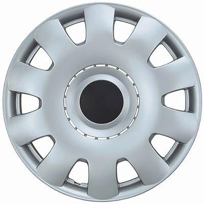 "Drive Accessories KT-986-15S/BK, Volkswagen Passat, 15"" Silver w/ Black Center Replica Wheel Cover, (Set of 4)"