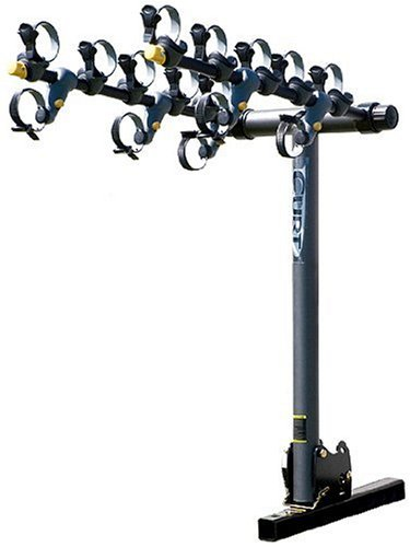 Curt Manufacturing 18047 Pro Series 4-Bike, Towable Rack-Ball Not Included