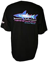 Fishing The Flats TV - 100% Cotton Shirt, Short Sleeve, Black - XLarge