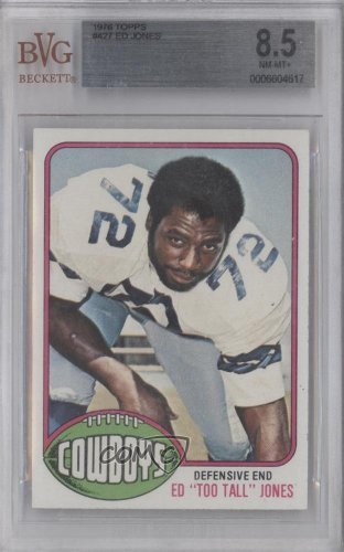 Ed Too Tall Jones RC (Rookie Card) BVG GRADED 8.5 Ed Jones, Dallas Cowboys (Football Card) 1976 Topps #427 at Amazon.com