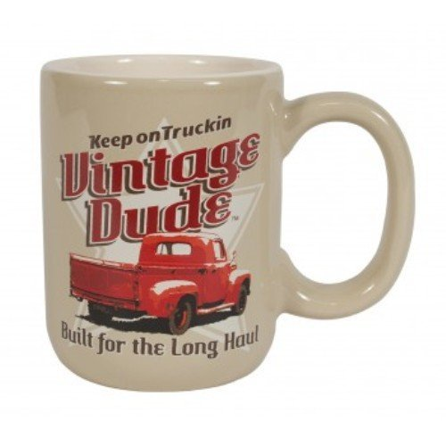 Laid Back Cf12018 Vintage Dude Pickup Truck Coffee Mug, 14-Ounce