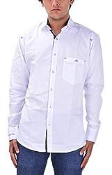 Kriva Enterprise Men's Casual Shirt (Kriva6_M, White, M)