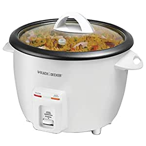 Black & Decker RC3314W 14-Cup Rice Cooker, White