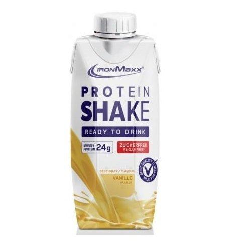 Ironmaxx Proteinshake Vanille 12 x 330ml, 1er Pack (1 x 3.96 l)