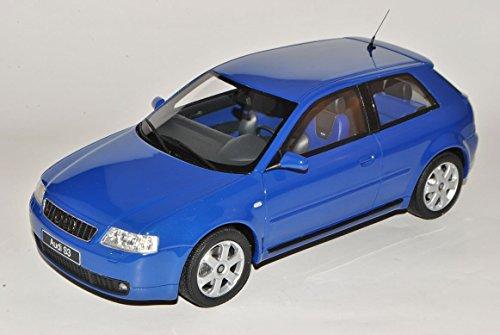 Audi-A3-8L-Blau-1996-2003-Nr-99-118-Otto-Modell-Auto-mit-individiuellem-Wunschkennzeichen