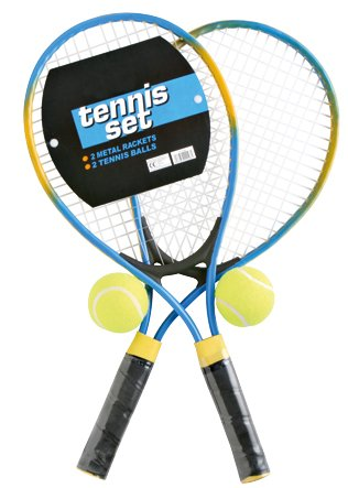 Metal Tennis Racquet Set for 2 Players