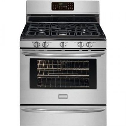 """Frigidaire Fggf3054Mf 30"""" Freestanding Gas Range With Quick Preheat And True Convection, Stainless Steel"""