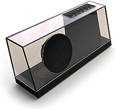 I-VENSTAR 033 Wireless Bluetooth Lautsprecher, Retro Design mit transparentem Glasgehäuse, MicroSD Kartenslot unterstützt, MP3/WMA/WAV/APE/FLAC, Schwarz
