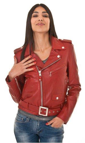 Lederjacke LCW8600 Slim fitted ladies perfecto Rouge SchottDamen