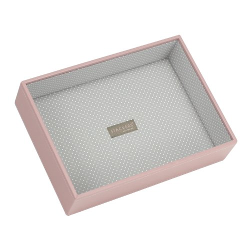 Stackers Jewellery Box | Classic Soft Pink & Gray Spot Deep Stacker