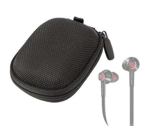 Duragadget Hard Eva Protective Storage Case / Bag For Headphones & Earphones In Black For Phillips : Fidelio S2, She9005A / 00, Fidelio S2, Shs3200 /10, Shs3201/ 10 Sport / She8000 / She9000 / Shs 8100 Sports / Fidelio S1 & Philips Shq1200/10 Actionfit Sw