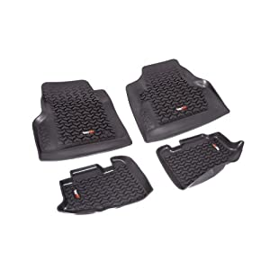 Rugged Ridge 12987.10 Black All-Terrain Front and Rear Floor Liner Kit - 4 Pieces