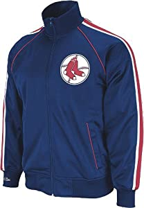 Boston Red Sox Mitchell & Ness Final Score Throwback Full Zip Premium Track... by Mitchell & Ness