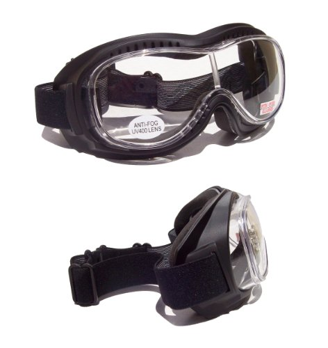Goliath OTG [Over The Glasses] Motorcycle Biker Riding Goggles |Clear Lens