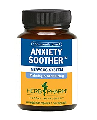 Herb Pharm Anxiety Soother Herbal Formula with Kava For Nervous System Support