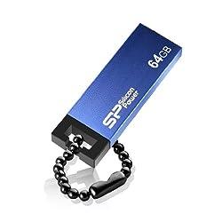 Silicon Power Touch 835 64GB USB 2.0 Flash Drive, Blue (SP064GBUF2835V1B)