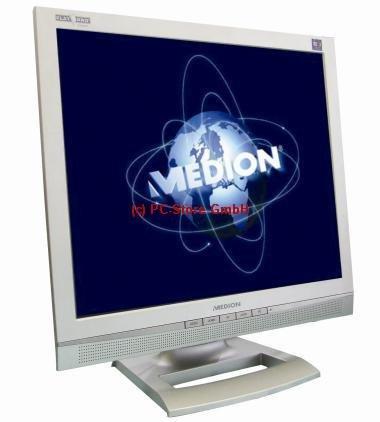 Medion MD32119 PR 48cm (19 Zoll) TFT Flachbildschirm - 4:3 Format - Silber - Analog + DVI + Lautsprecher - 700:1 - 300cd/m²