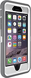 OtterBox Defender Series 3 Layer Belt-clip Holster Case for iPhone 6, Retail Packaging - White/Grey