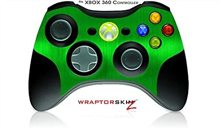 XBOX 360 Wireless Controller Decal Style Skin - Brushed Metal Green (Controller Not Included)