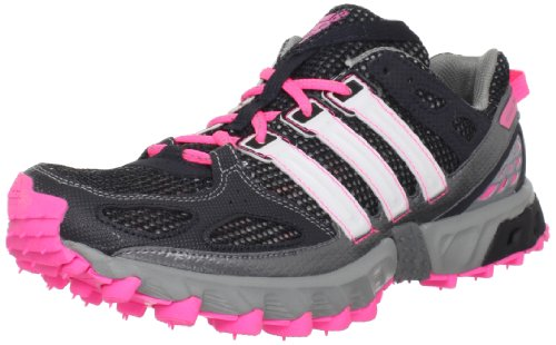 adidas Women's Kanadia 4 TR Running Shoe,Phantom/Zero Metallic/Ultra Pop,10.5 M US