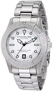 Stuhrling Original Men's 1161.33112 Nautical Regatta Sailor Swiss Quartz Divers Date Stainless Steel Watch