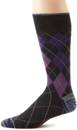 Robert Graham Men's Corinthian Socks, Charcoal,