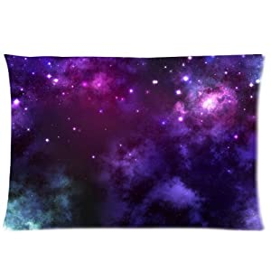 galaxies universe colorful star pattern art design Custom Rectangle Pillow Cases 20x30 (one side) by LuckyAppleStore