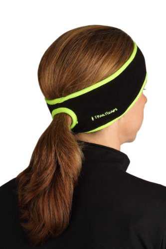 TrailHeads Goodbye Girl Ponytail Headband - black / hi-vis